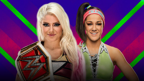 Alexa Bliss vs. Bayley in a kendo stick-on-a-pole match for the Raw Women's Championship