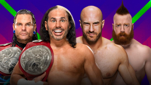 The Hardy Boyz vs. Cesaro and Sheamus in a steel cage match for the Raw Tag Team Championship