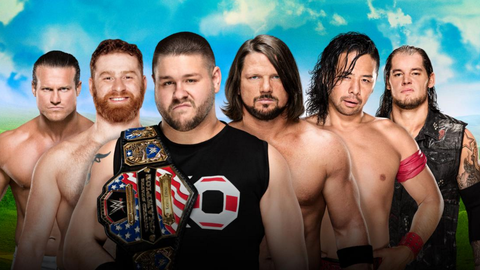 Kevin Owens vs. Dolph Ziggler vs. Sami Zayn vs. AJ Styles vs. Shinsuke Nakamura vs. Baron Corbin in a Money In The Bank ladder match