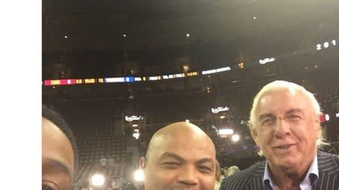 Charles Barkley, Ric Flair and Chris Webber