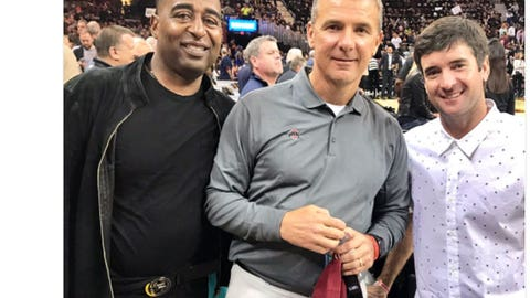Cris Carter, Urban Meyer and Bubba Watson