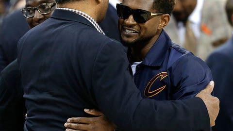 Usher and Jesse Jackson