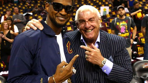 Usher and Ric Flair