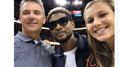 Urban Meyer and Usher