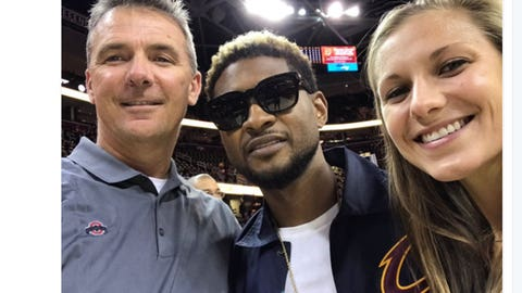 Urban Meyer and Usher