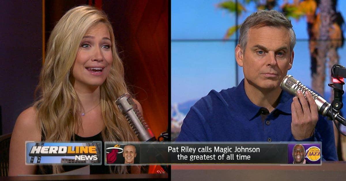 9042352ef Pat Riley calls Magic Johnson the greatest of all time - Kristine and Colin  react