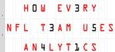 How All 32 NFL Teams Handle Analytics