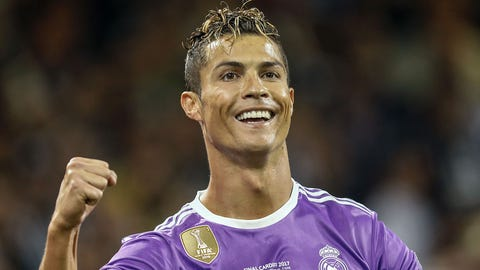 Cristiano Ronaldo of Real Madridduring the UEFA Champions League final match between Juventus FC and Real Madrid on June 3, 2017 at the Millennium Stadium in Cardiff, Wales(Photo by VI Images via Getty Images)
