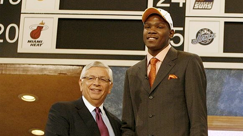 Kevin Durant | College: Texas | 2008 NBA Draft | 1st overall pick by Sonics/Thunder