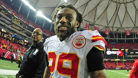 ATLANTA, GA - DECEMBER 4: Eric Berry #29 of the Kansas City Chiefs celebrates after the game against the Atlanta Falcons at the Georgia Dome on December 4, 2016 in Atlanta, Georgia. (Photo by Scott Cunningham/Getty Images)