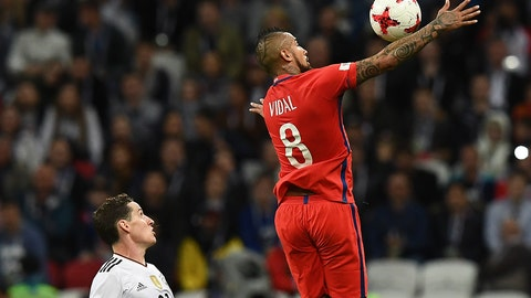 Arturo Vidal was everywhere