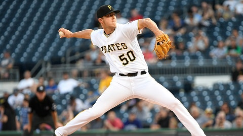 PITTSBURGH, PA - JUNE 12:  Jameson Taillon #50 of the Pittsburgh Pirates delivers a pitch in the first inning during the game against the Colorado Rockies at PNC Park on June 12, 2017 in Pittsburgh, Pennsylvania. (Photo by Justin Berl/Getty Images)
