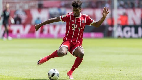 MUNICH, GERMANY - MAY 20: Kingsley Coman of Bayern Muenchen controls the ball during the Bundesliga match between Bayern Muenchen and SC Freiburg at Allianz Arena on May 20, 2017 in Munich, Germany. (Photo by TF-Images/Getty Images)
