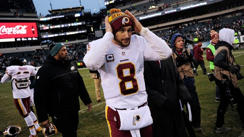 PHILADELPHIA, PA - DECEMBER 11: Kirk Cousins #8 of the Washington Redskins adjusts his beanie after the game against the Philadelphia Eagles at Lincoln Financial Field on December 11, 2016 in Philadelphia, Pennsylvania. The Redskins won 27-22. (Photo by Corey Perrine/Getty Images)