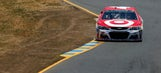 Larson posts fastest time in incident-filled final practice from Sonoma