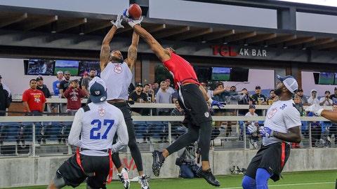 San Jose, CA - Tuesday June 27, 2017: Team Owens, Team Vick during the inaugural American Flag Football League (AFFL) game between Team Vick and Team Owens at Avaya Stadium.