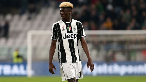 JUVENTUS STADIUM, TORINO,  , ITALY - 2017/03/10: Moise Kean  of Juventus FC  during the Serie A football match between Juventus FC and Ac Milan at Juventus Stadium    Juventus FC wins 2-1 over AC Milan. (Photo by Marco Canoniero/LightRocket via Getty Images)