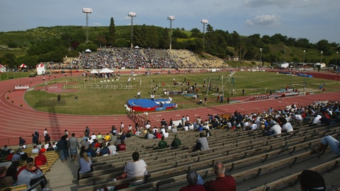 WALNUT, USA - APRIL 18:  A General View of the Mount Sac Relays at the Hilmer Lodge Stadium on April 18, 2004 in Walnut, California, USA.  (Photo by Michael Steele/Getty Images)