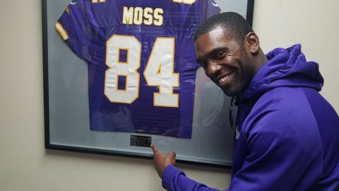Randy Moss, former Vikings receiver