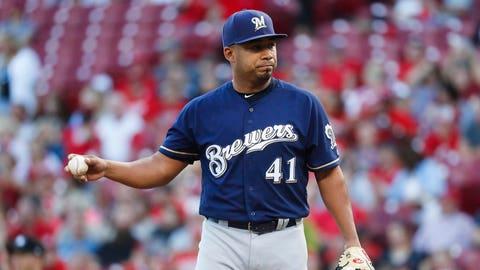 Junior Guerra, Brewers pitcher (↑ UP)
