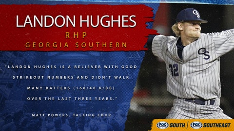 7th pick (No. 200 overall): Landon Hughes