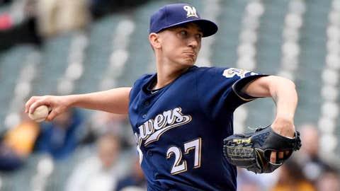 Brewers starting pitcher Zach Davies (6-3, 4.69 ERA)