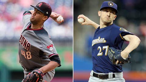 Today's starting pitchers: RHP Randall Delgado vs. RHP Zach Davies
