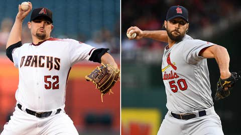Today's starting pitchers: RHP Zack Godley vs. RHP Adam Wainwright