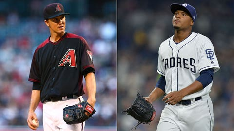 Today's starting pitchers: RHP Zack Greinke vs. RHP Luis Perdomo