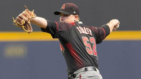 D-backs starting pitcher Zack Godley (3-1, 2.53 ERA)