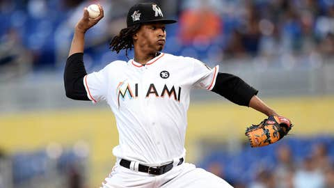 Marlins starting pitcher Jose Urena (3-2, 3.14 ERA)