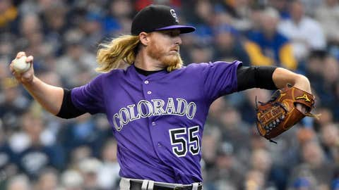 Rockies starting pitcher Jon Gray (0-0, 4.38 ERA)