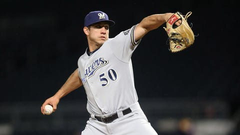Jacob Barnes, Brewers reliever (↓ DOWN)