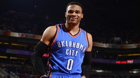 Russell Westbrook | 5-year extension through 2022-23 | $205,000,000 | Oklahoma City Thunder