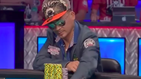Poker players wearing sunglasses