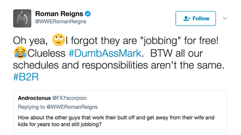 Finally, Reigns hit back at criticism that he's overshadowing other hard workers on the roster
