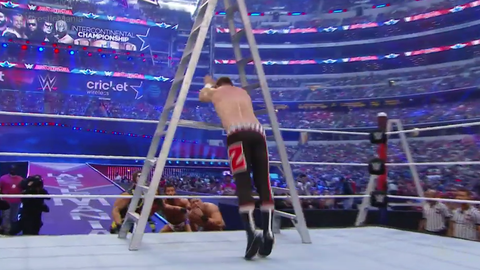 Fox Sports: At WrestleMania 32 you had a moment where you dove through an upright ladder, over the top rope and flipped onto a group of guys outside the ring. How did you develop the body control to be able to execute a move like that?