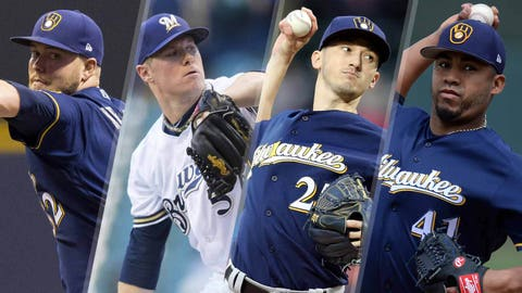 Brewers starting pitchers (↑ UP)