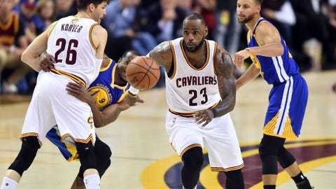 LeBron's greatest mistake was not pressuring Kevin Durant on his go-ahead three