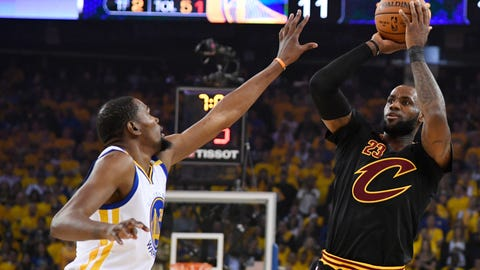 LeBron continually disappeared in the big moments in this series