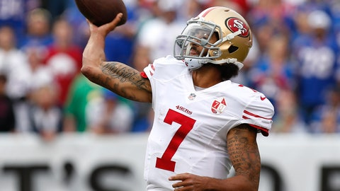 When a contender's starting QB goes down, Kaepernick will get his chance