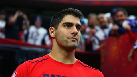 "Jimmy Garoppolo: ""Obviously, I want to play"""