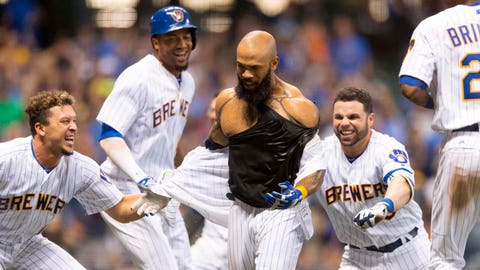 Best moment: Eric Thames walk-off home run
