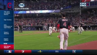 FOX Vision: Indians walk-off celebration plus Lonnie Chisenhall joins in