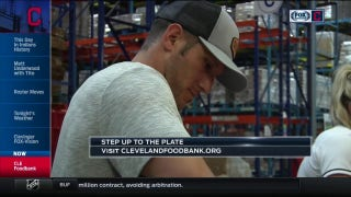 Andre details Indians contribution at Cleveland Food Bank & upcoming competition with Royals