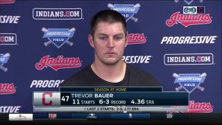 Trevor Bauer applying Tribe pitching coach Mickey Callaway's advice