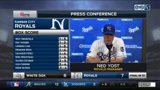 Despite deficit, Yost 'felt like we could put together some good at-bats and get back in it'
