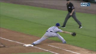 WATCH: Bonifacio, Hosmer team up for 9-3 double play