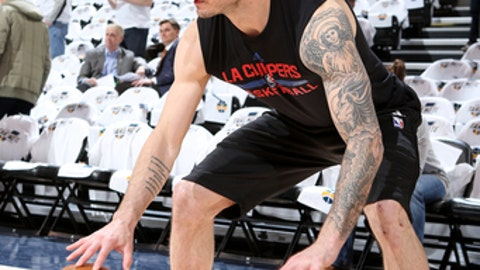 SALT LAKE CITY, UT - APRIL 28: J.J. Redick #4 of the LA Clippers warms up before the game against the Utah Jazz of the Utah Jazz of the Los Angeles Clippers at vivint.SmartHome Arena on April 28, 2017 in Salt Lake City, Utah. NOTE TO USER: User expressly acknowledges and agrees that, by downloading and or using this Photograph, User is consenting to the terms and conditions of the Getty Images License Agreement. Mandatory Copyright Notice: Copyright 2017 NBAE (Photo by Melissa Majchrzak/NBAE via Getty Images) SALT LAKE CITY, UT - APRIL 21:  in Game Six of the Western Conference Quarterfinals of the 2017 NBA Playoffs on April 21, 2017 at vivint.SmartHome Arena in Salt Lake City, Utah. NOTE TO USER: User expressly acknowledges and agrees that, by downloading and or using this Photograph, User is consenting to the terms and conditions of the Getty Images License Agreement. Mandatory Copyright Notice: Copyright 2017 NBAE (Photo by Melissa Majchrzak/NBAE via Getty Images)
