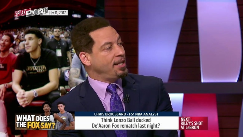 Did Lonzo Ball really duck De'Aaron Fox rematch? | SPEAK FOR YOURSELF
